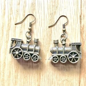 NEW Mini Train Engine Earrings